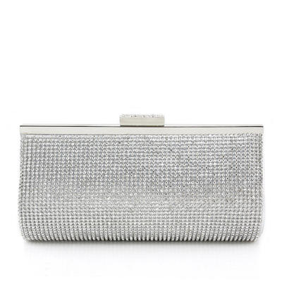 Clutches Wedding/Ceremony & Party PU Clip Closure Attractive Clutches & Evening Bags (012185369)