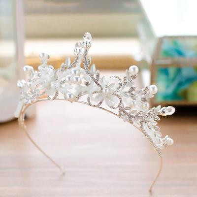 Tiaras Alloy Venetian Pearl/Czech Stones (Sold in single piece) Headpieces (042159569)