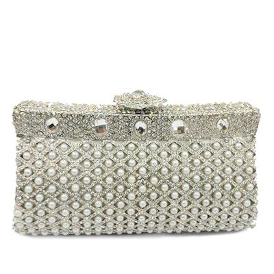 "Clutches/Luxury Clutches Wedding/Ceremony & Party Alloy Elegant 7.09""(Approx.18cm) Clutches & Evening Bags (012186130)"