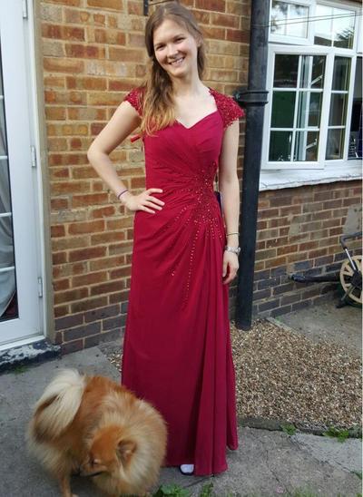 A-Line/Princess Sweetheart Chiffon Floor-Length Ruffle Beading Mother of the Bride Dresses (008212703)