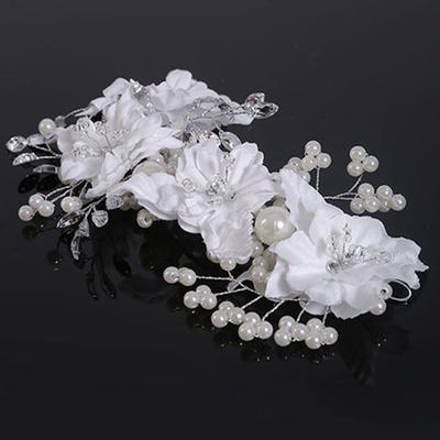 "Hairpins Wedding Crystal/Imitation Pearls/Satin 6.69""(Approx.17cm) 3.94""(Approx.10cm) Headpieces (042159017)"