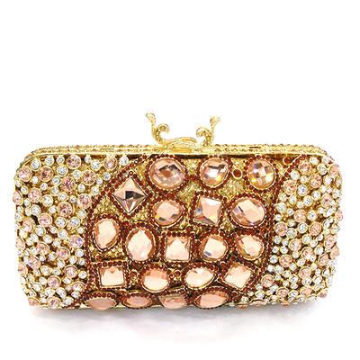 Clutches/Luxury Clutches Wedding/Ceremony & Party Crystal/ Rhinestone/Alloy Magnetic Closure Elegant Clutches & Evening Bags (012186179)