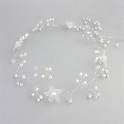 "Headbands Wedding/Special Occasion/Casual/Outdoor/Party/Art photography Crystal/Imitation Pearls/Frosted flower 13.78""(Approx.35cm) 1.97""(Approx.5cm) Headpieces (042159303)"