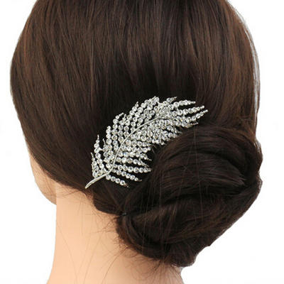 """Combs & Barrettes Wedding/Casual/Party/Art photography Rhinestone 3.74""""(Approx.9.5cm) 2.36""""(Approx.6cm) Headpieces (042159120)"""