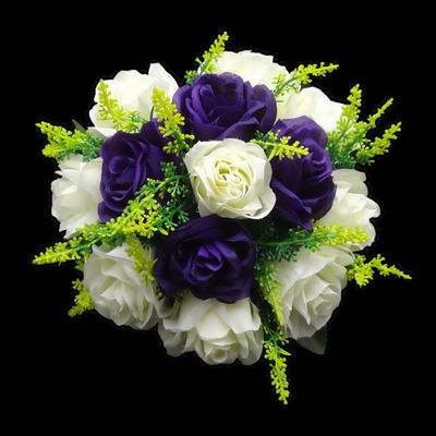 "Bridesmaid Bouquets Round Wedding Satin 8.66""(Approx.22cm) Wedding Flowers (123188272)"