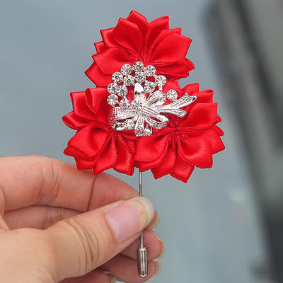 "Boutonniere Free-Form Wedding/Party Satin 2.76"" (Approx.7cm) Wedding Flowers (123190409)"