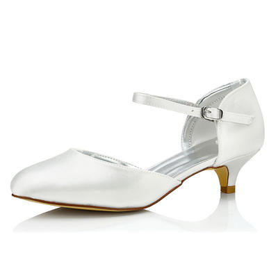 Women's Pumps Dyeable Shoes Low Heel Satin Yes Wedding Shoes (047206069)