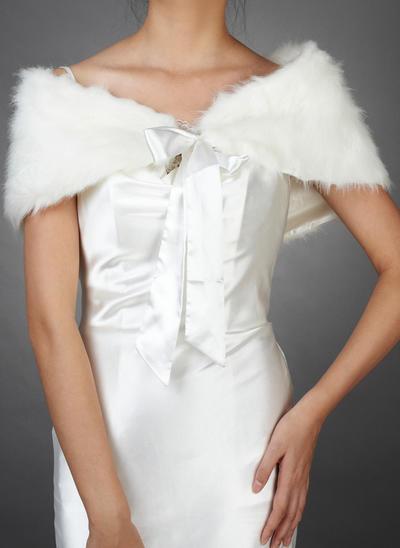 Wrap Wedding Faux Fur Sleeveless Other Colors Wraps (013149344)