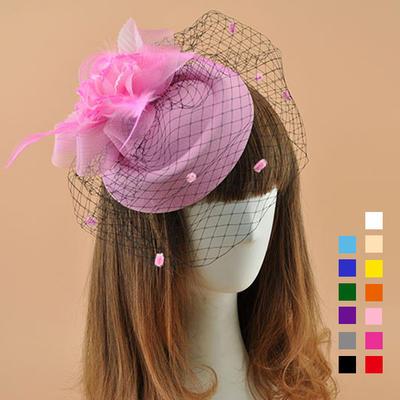 Cambric With Feather Fascinators Elegant Ladies' Hats (196195094)