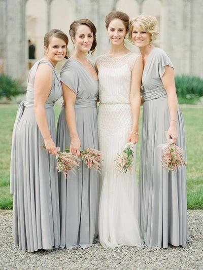 Chiffon Short Sleeves A-Line/Princess Bridesmaid Dresses V-neck Ruffle Sash Floor-Length (007212239)