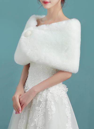 Wrap Wedding Faux Fur Ivory Wraps (013150317)