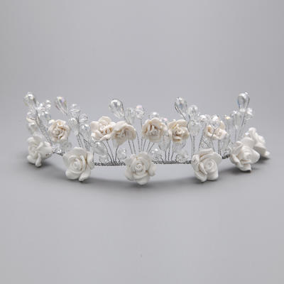 "Headbands Wedding/Special Occasion/Party Alloy/Polymer Clay 5.91""(Approx.15cm) 4.72""(Approx.12cm) Headpieces (042154326)"