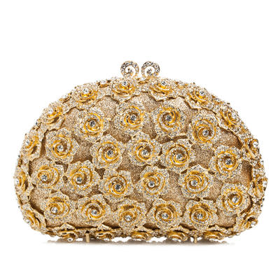 Clutches/Luxury Clutches Wedding/Ceremony & Party Crystal/ Rhinestone/Alloy Magnetic Closure Dreamlike Clutches & Evening Bags (012186087)