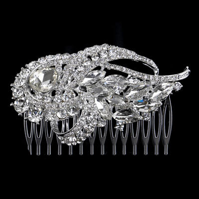"""Combs & Barrettes Alloy 3.54""""(Approx.9cm) 2.36""""(Approx.6cm) Rhinestone Headpieces (042159166)"""