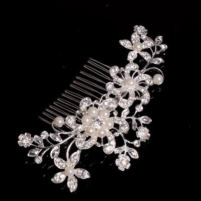"Combs & Barrettes Wedding/Special Occasion/Party Alloy/Imitation Pearls 4.53""(Approx.11.5cm) 2.76""(Approx.7cm) Headpieces (042155485)"