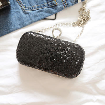 """Clutches/Satchel Wedding/Ceremony & Party Lace/Sequin Kiss lock closure 7.87""""(Approx.20cm) Clutches & Evening Bags (012187785)"""