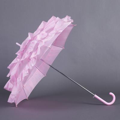 Wedding Umbrellas Bridal Parasols Women's Wedding Hook Handle Wedding Umbrellas (124148589)