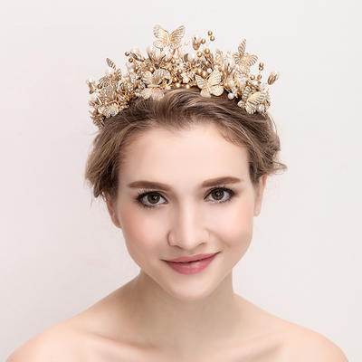 """Tiaras Wedding/Special Occasion Alloy/Imitation Pearls 15.75""""(Approx.40cm) 3.15""""(Approx.8cm) Headpieces (042158349)"""