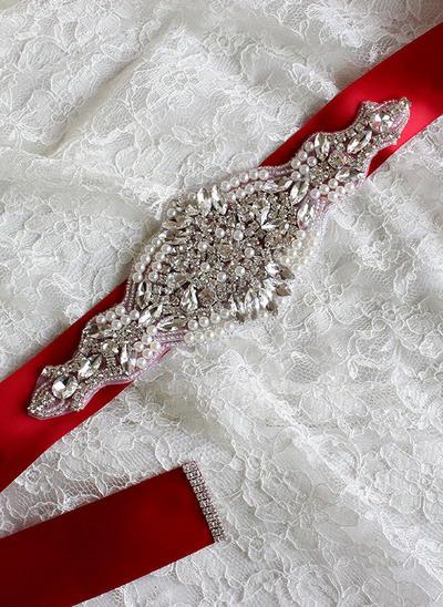 Women With Rhinestones/Imitation Pearls Sash Gorgeous Sashes & Belts (015191307)