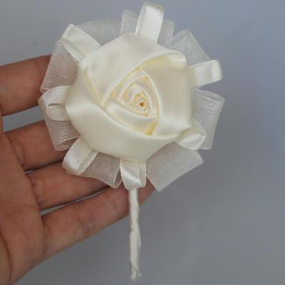 "Boutonniere Round Wedding/Party Satin 4.33""(Approx.11cm) Wedding Flowers (123190061)"