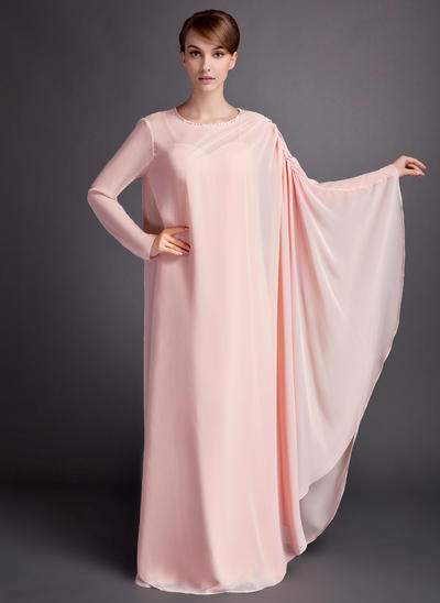 A-Line/Princess Sweetheart Chiffon Sleeveless Floor-Length Ruffle Mother of the Bride Dresses (008211191)
