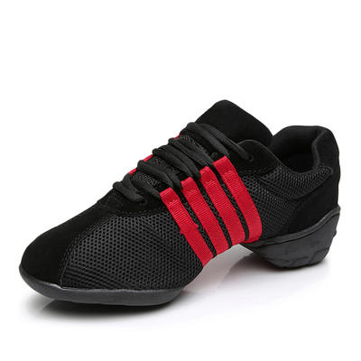 Women's Practice Sneakers Leatherette With Lace-up Dance Shoes (053178342)