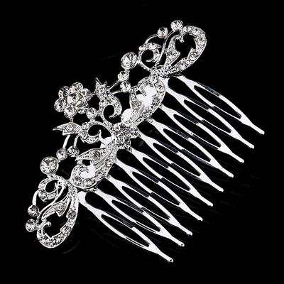 """Combs & Barrettes Alloy 3.15""""(Approx.8cm) 2.36""""(Approx.6cm) Rhinestone Headpieces (042159165)"""