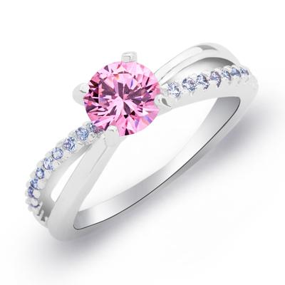 Rings Copper/Zircon/Platinum Plated Ladies' Shining Wedding & Party Jewelry (011165402)