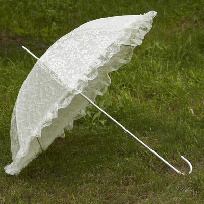 Wedding Umbrellas Bridal Parasols Women's Wedding Hook Handle Wedding Umbrellas (124148570)