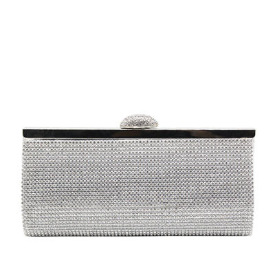 Clutches/Luxury Clutches Wedding/Ceremony & Party/Casual & Shopping/Office & Career Sparkling Glitter Snap Closure Elegant Clutches & Evening Bags (012187806)