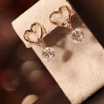 Earrings Alloy/Rhinestones Pierced Ladies' Beautiful Wedding & Party Jewelry (011167452)
