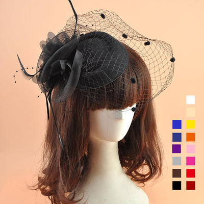 Organza With Feather Fascinators Beautiful Ladies' Hats (196195078)
