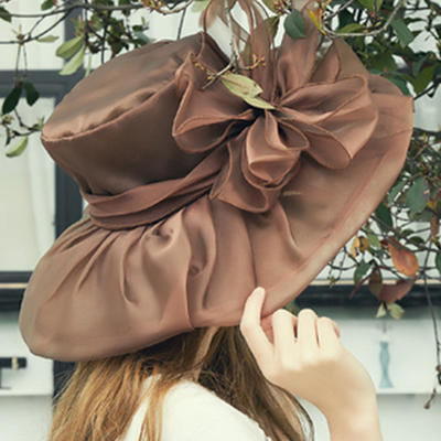 Organza With Silk Flower Floppy Hat/Beach/Sun Hats Beautiful Ladies' Hats (196194978)