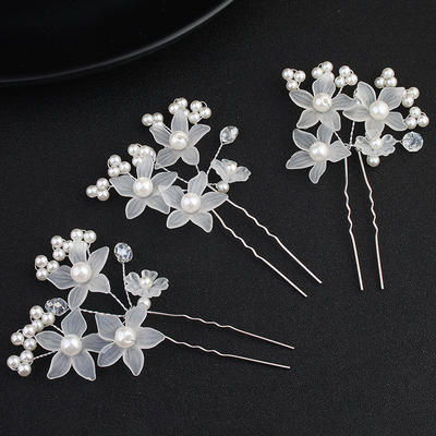 Hairpins Wedding Imitation Pearls Fashion (Sold in single piece) Headpieces (042159101)