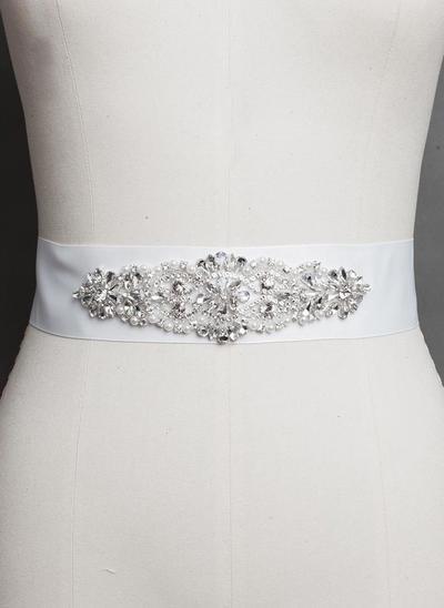 Women Satin With Rhinestones/Imitation Pearls Sash Stylish Sashes & Belts (015191000)