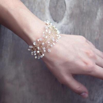 Bracelets Alloy/Imitation Pearls Imitation Pearls Ladies' Romantic Wedding & Party Jewelry (011167484)