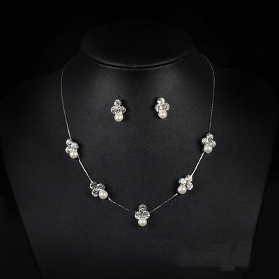 Jewelry Sets Alloy/Rhinestones Lobster Clasp Pierced Ladies' Wedding & Party Jewelry (011167360)