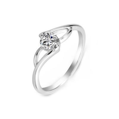 Rings Zircon/Platinum Plated Ladies' Unique Wedding & Party Jewelry (011164832)