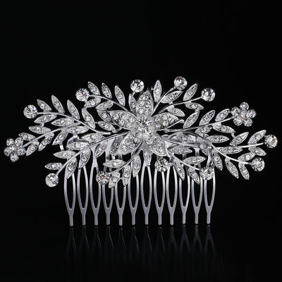 Combs & Barrettes Wedding/Special Occasion Rhinestone/Alloy Special Ladies Headpieces (042158791)