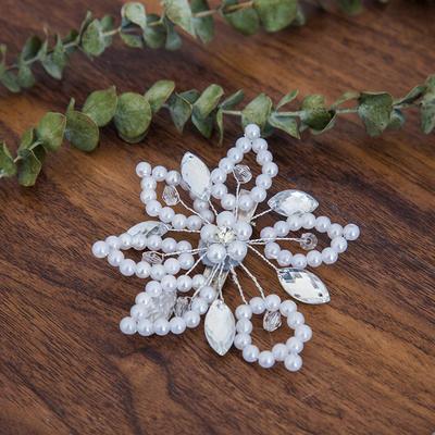 "Hairpins Wedding Rhinestone/Imitation Pearls 3.94""(Approx.10cm) 3.94""(Approx.10cm) Headpieces (042158440)"