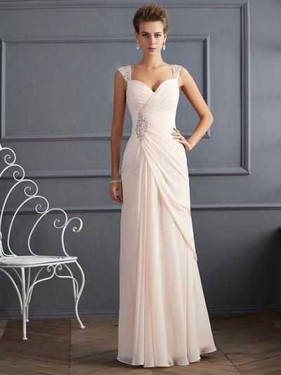 Sleeveless Sheath/Column Prom Dresses Beading Floor-Length (018212183)