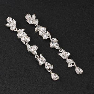 Earrings Alloy/Rhinestones Pierced Ladies' Charming Wedding & Party Jewelry (011167380)