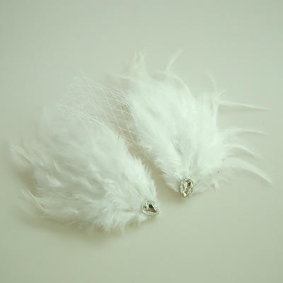 "Forehead Jewelry Wedding/Special Occasion/Party Net Yarn/Feather 9.84""(Approx.25cm) 3.15""(Approx.8cm) Headpieces (042159537)"