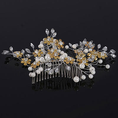 "Combs & Barrettes Wedding Crystal/Alloy/Imitation Pearls 5.91""(Approx.15cm) 3.94""(Approx.10cm) Headpieces (042159031)"