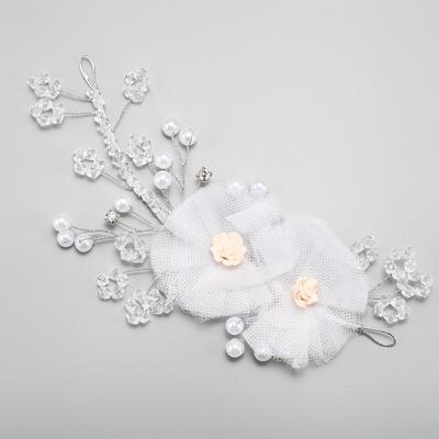 """Blumen und Federn Hochzeit/besondere Anlässe Legierung/Faux-Perlen/Seide Blumen/Soft-Keramik 4.33""""(Ungefähre.11cm) 0.47""""(Ungefähre 1.2cm) Kopfschmuck (042156739)"""