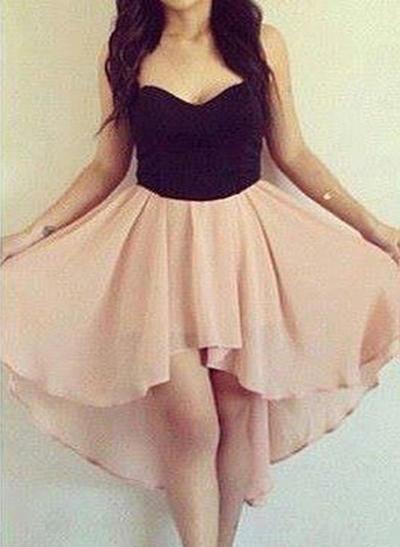 A-Line/Princess Sweetheart Chiffon Sleeveless Asymmetrical Homecoming Dresses (022212271)