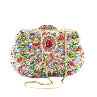 Clutches Wedding/Ceremony & Party Crystal/ Rhinestone/Alloy Magnetic Closure Gorgeous Clutches & Evening Bags (012186362)