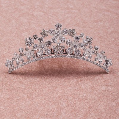 """Tiaras Wedding/Special Occasion/Party Rhinestone/Alloy 4.33""""(Approx.11cm) 1.50 """"(Approx.3.8cm) Headpieces (042154619)"""