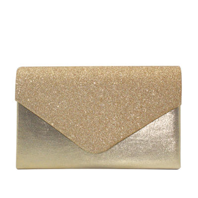 Clutches/Luxury Clutches Wedding/Ceremony & Party/Casual & Shopping/Office & Career Velvet/Sequin/Sparkling Glitter Snap Closure Elegant Clutches & Evening Bags (012187807)