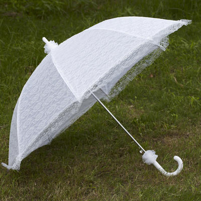 Wedding Umbrellas Bridal Parasols Women's Wedding Hook Handle Wedding Umbrellas (124148529)